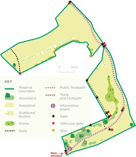 Middleton Down reserve map © WWT