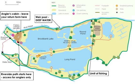 Langford Lakes Fishing map