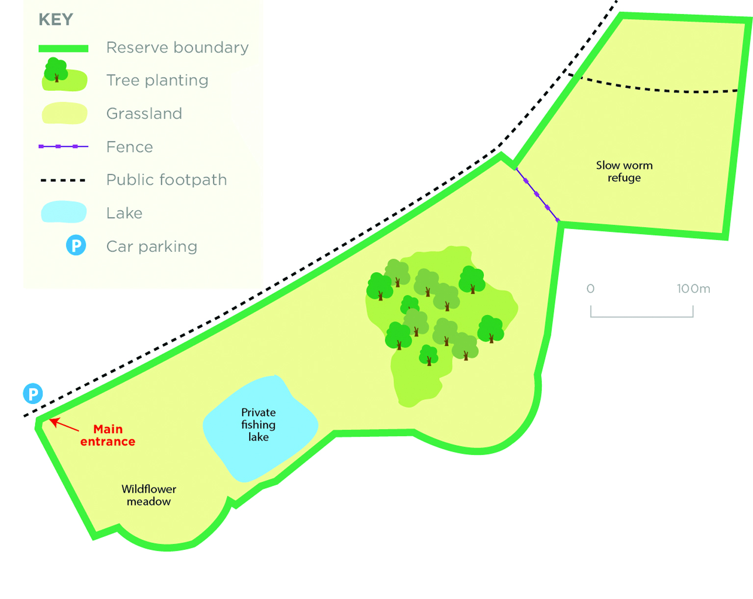 Penn Wood reserve map © WWT