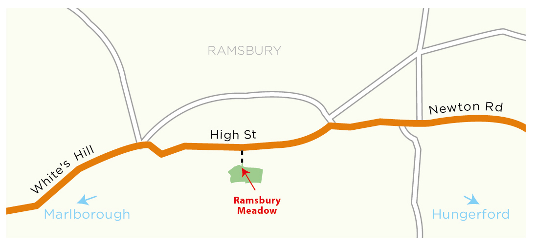 Ramsbury Meadow location map © WWT