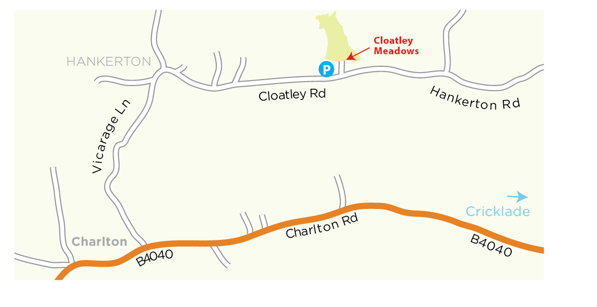 Cloatley Meadows location map © WWT