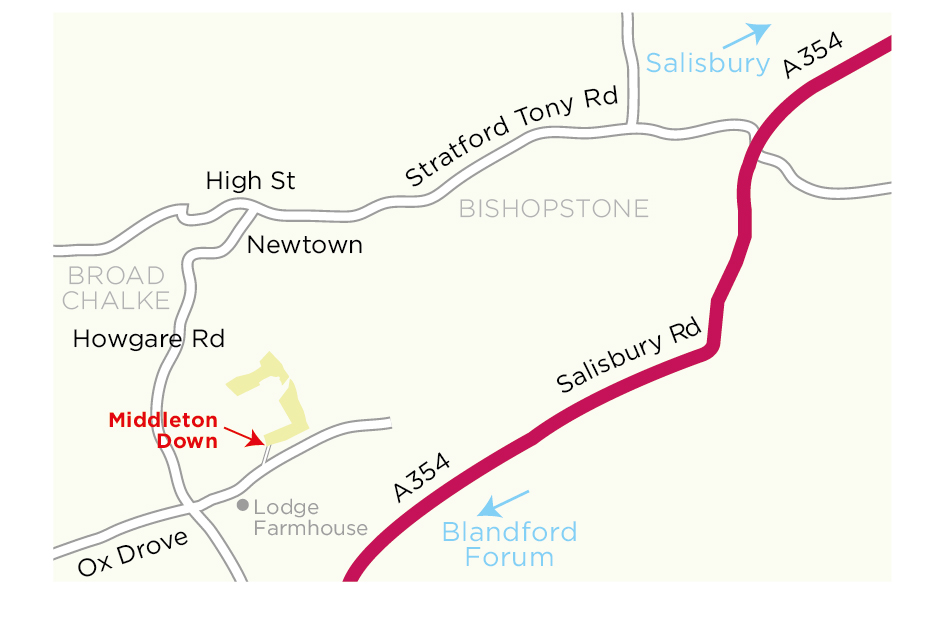Middleton Down location map © WWT