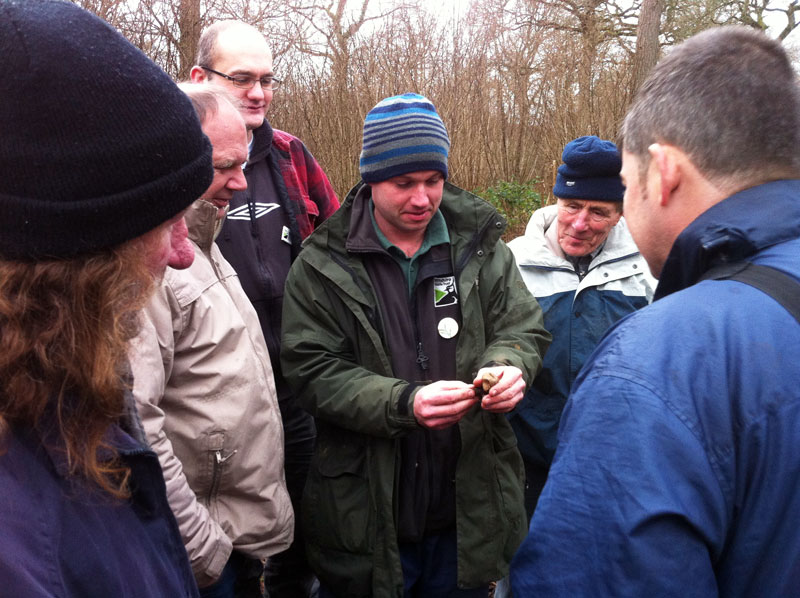 Wellbeing Volunteers on Fungi Foray © WWT