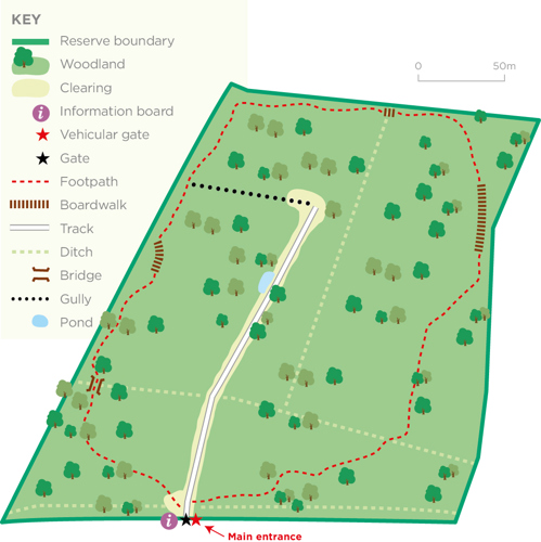 The Firs reserve map © WWT
