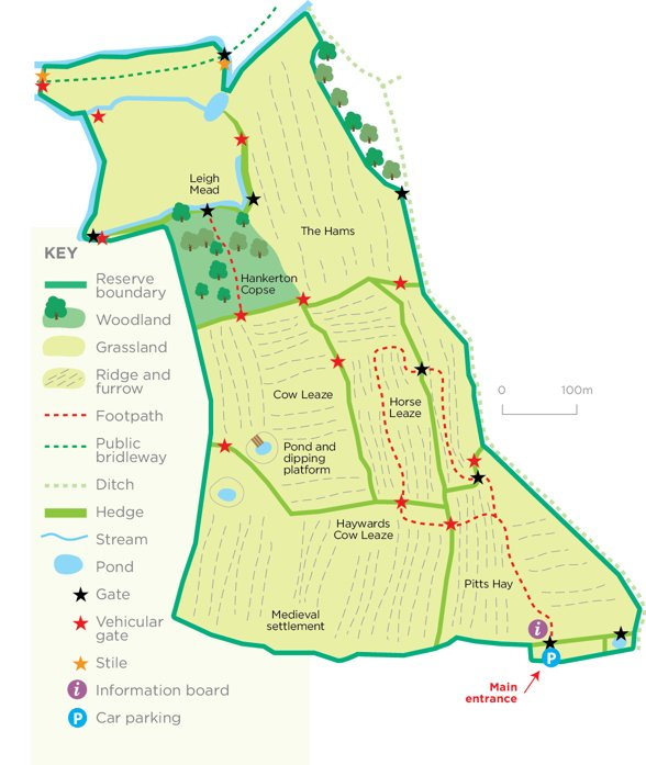 Cloatley meadows reserve map © WWT