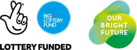 Big Lottery Fund & Our Bright Future logo