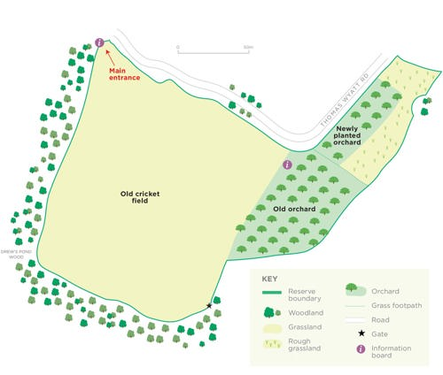 Roundway reserve map © WWT