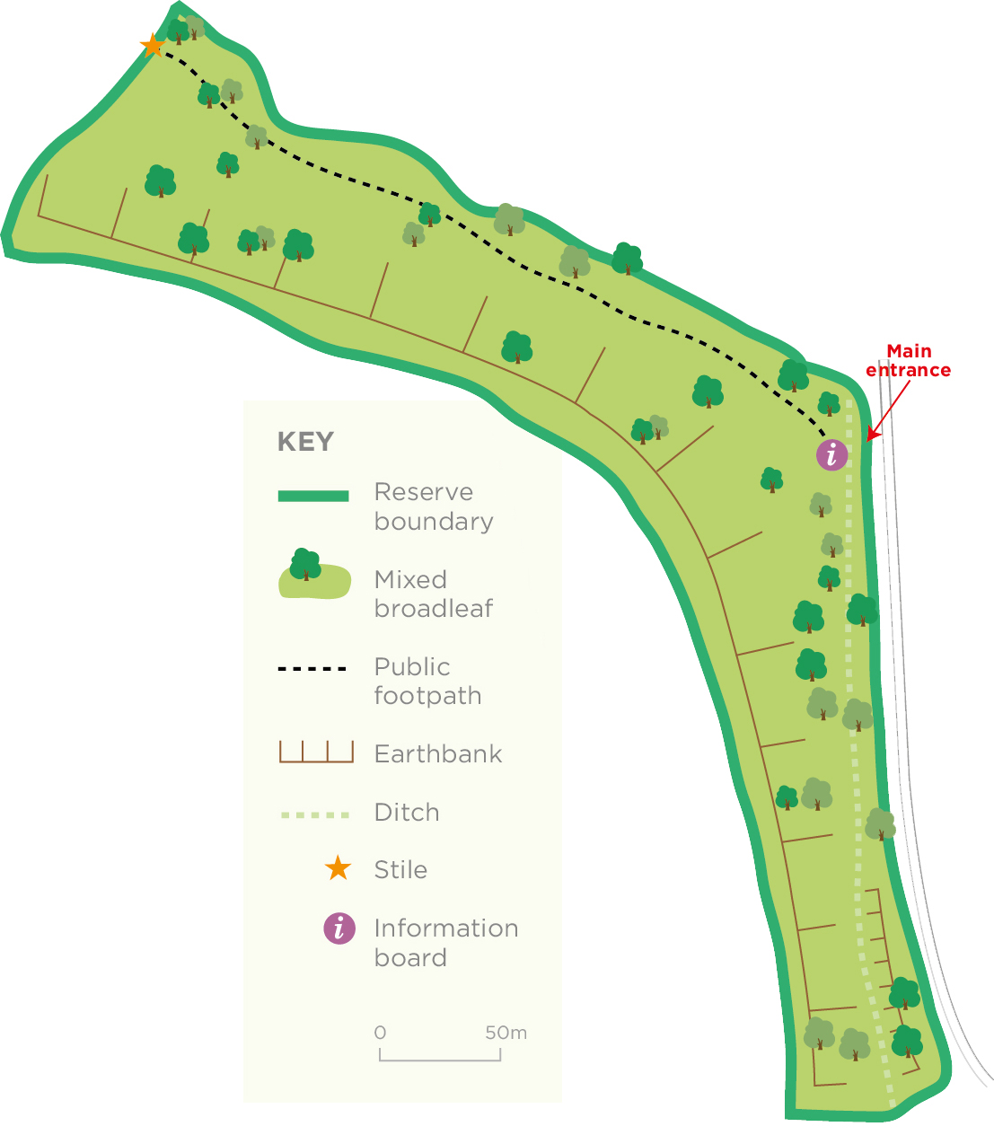 Peppercombe Wood reserve map © WWT