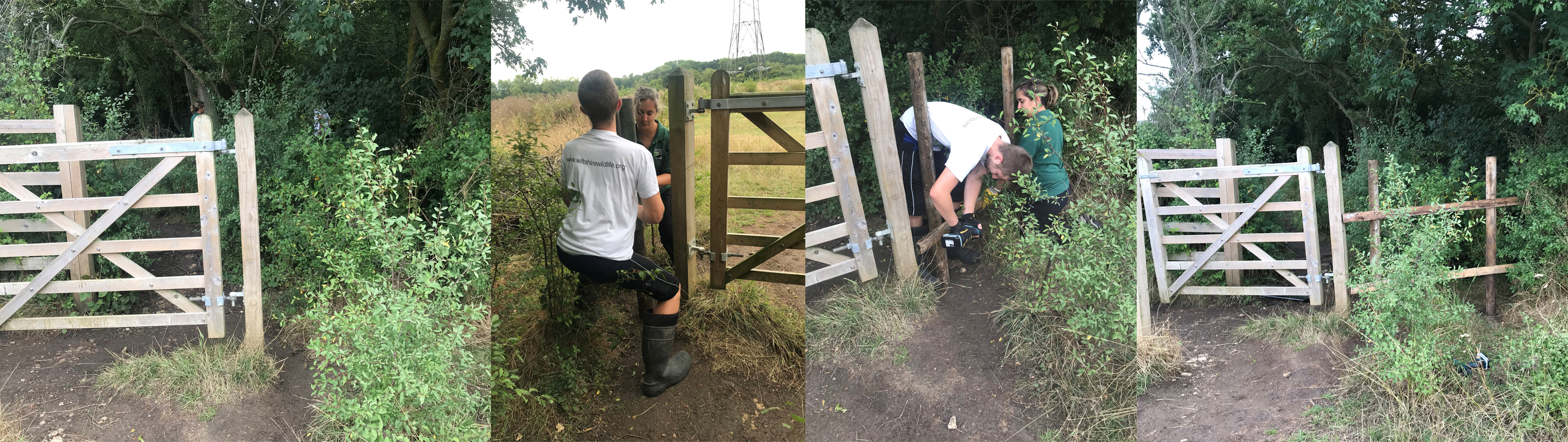 Day in the life of an estates worker, repairing a kissing gate