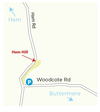 Ham Hill location map © WWT